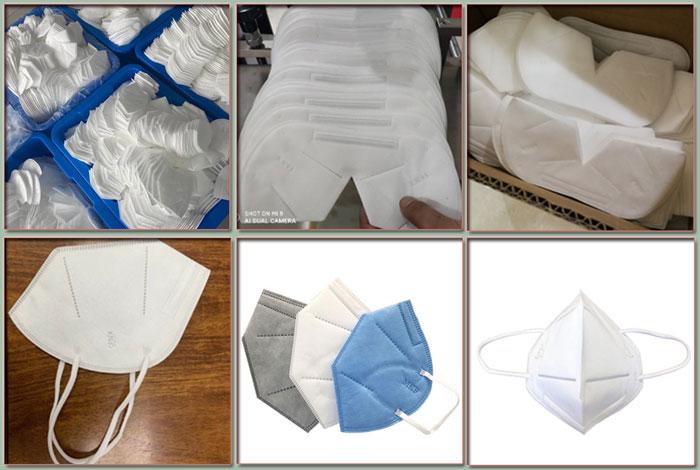 四川口罩机器生产厂家 四川全自动口罩机器设备厂家生产样品展示